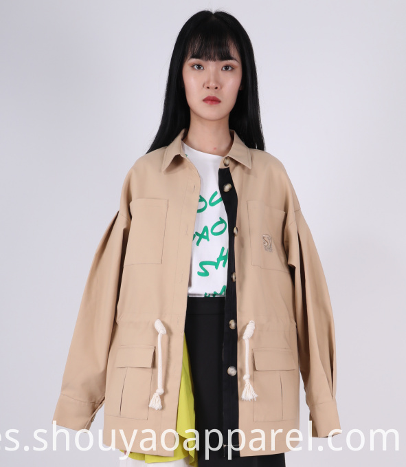LADIES COLLARED TRENCH COAT